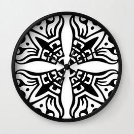 Quatrefoil Fun Pattern Wall Clock