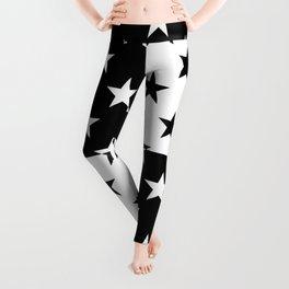 MID-CENTURY STARS (BLACK-WHITE) Leggings