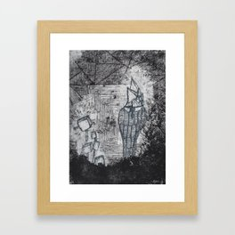 Happy Old Man's Book Page #1 Framed Art Print