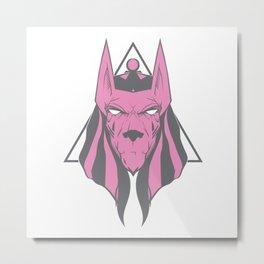 Anubis face 2 (variation) Metal Print