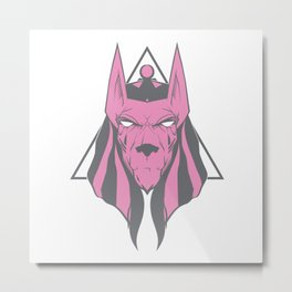 Anubis face 2 (variation) Metal Print