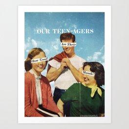 Teen-agers Art Print