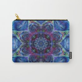 Karlion- Blue Art- Kaleidescopes- Wall Art- Pattern Art- Abstract Art- Fractal Art- Spirograph Carry-All Pouch