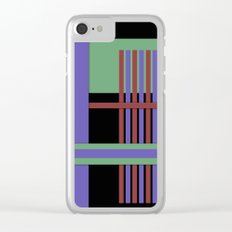 Abstract #407 Clear iPhone Case