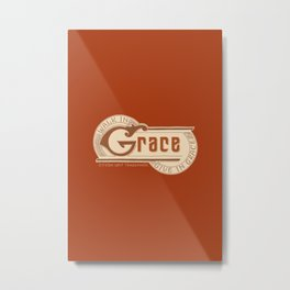 WALK IN GRACE - Handlettering Verse Metal Print