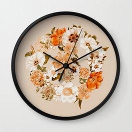 Botanica Peace sign - bohemian Wall Clock