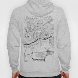 Frankfurt City Map Gray Hoody