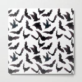Bats, bats, bats seamless digital abstract pattern  Metal Print