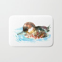 Duck, Bufflehead Duck baby Wild Duck Bath Mat