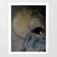 imagerybydianna Art Prints featuring dreaming in tennyson's tower by Imagery by dianna