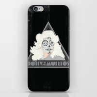 dolly parton iPhone & iPod Skins featuring Dolly de los Muertos by Hey!Roger