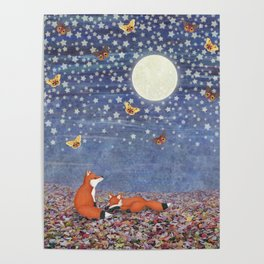 moonlit foxes Poster