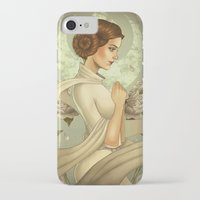 princess leia iPhone & iPod Cases featuring Princess Leia by trevacristina