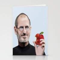steve jobs Stationery Cards featuring Jobs by Dano77