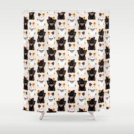 Maneki Neko - Lucky Cats Shower Curtain