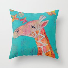 Giraffing Throw Pillow