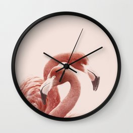 FLAMINGOS ROSE Wall Clock