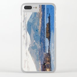 The Bay of Naples, Italy Clear iPhone Case
