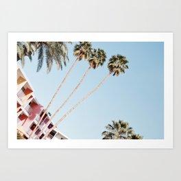 Palm Springs palmtrees Art Print