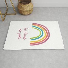 Rainbow Be Kind Do Good Rug