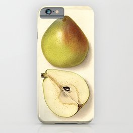 Vintage Botanical Anjou Pear iPhone Case