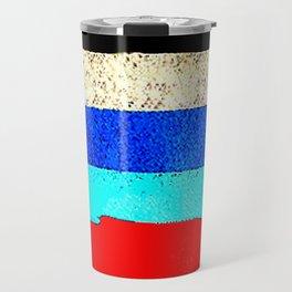 Colourful stripes horizontal Travel Mug
