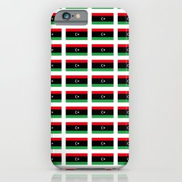 flag of libya-Libyan,Tripoli,benghazi,misurata,bayda,cyrenaica iPhone Case