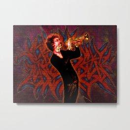 Jazz Graffiti / Kyteman / Trumpet Metal Print
