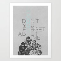 breakfast club Art Prints featuring BREAKFAST CLUB... by studiomarshallarts