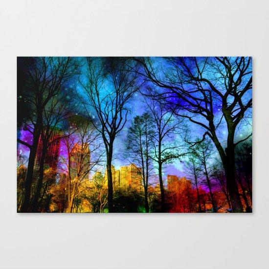 Magical sky Central Park  Canvas Print