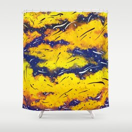 Tiger Striped Sky Shower Curtain
