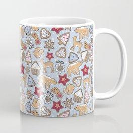 Gingerbread on light blue background Coffee Mug