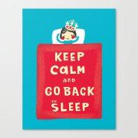 keep calm Canvas Prints featuring keep calm by Jill Howarth