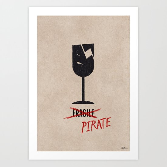 Packing Pirate Art Print
