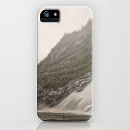 Nugget Falls and Mendenhall Glacier iPhone Case