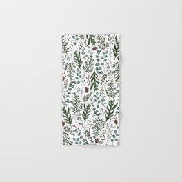 Pine and Eucalyptus Greenery Hand & Bath Towel
