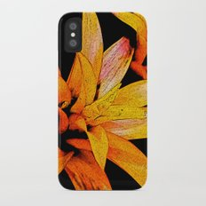 Yellow Bloom iPhone X Slim Case