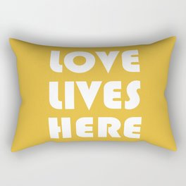 Love Lives Here Rectangular Pillow