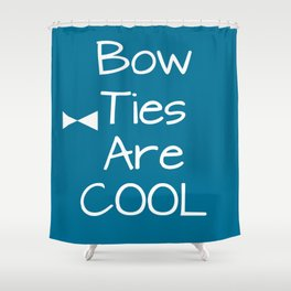 DOCTOR WHO Bow Ties Are Cool Teal Shower Curtain