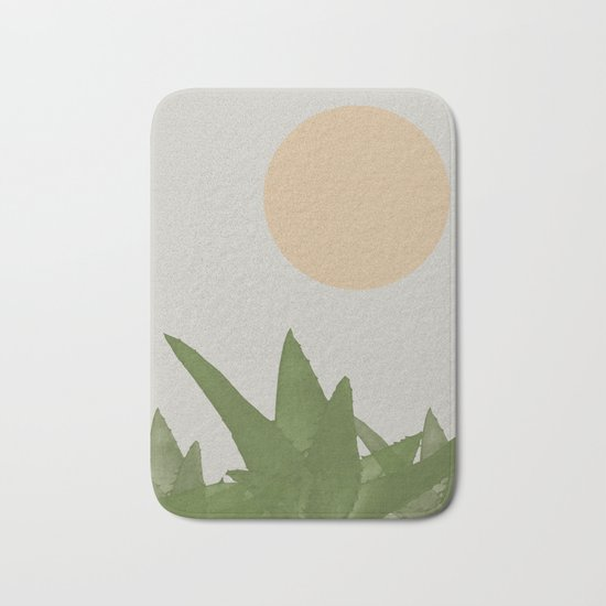 Aloe and moon Bath Mat