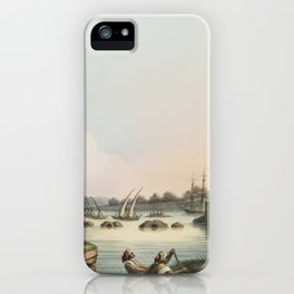 Port of Latachia from Views in the Ottoman Dominions, in Europe, in Asia, and some of the Mediterran iPhone Case