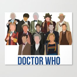 Doctor Who Through the Years Canvas Print