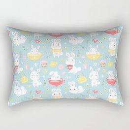 Spring Bunnies Rectangular Pillow