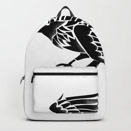 Raven Flying Side Tattoo Backpack