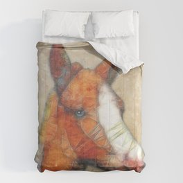 abstract foal Comforters