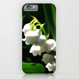 Painted Lily-of-the-Valley iPhone Case