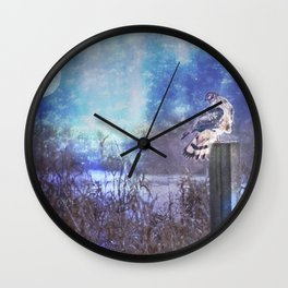 The Northern Harrier and The Moon Wall Clock