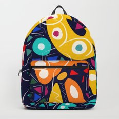 Night Life Abstract Art pattern decoration Backpack
