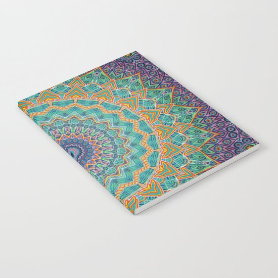 Travel Into Dimensions Mandala. Notebook