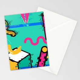 The Glitch Memphis Stationery Cards